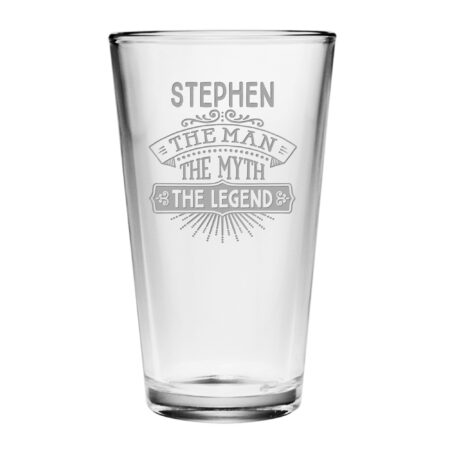 Personalized The Man The Myth The Legend Pint