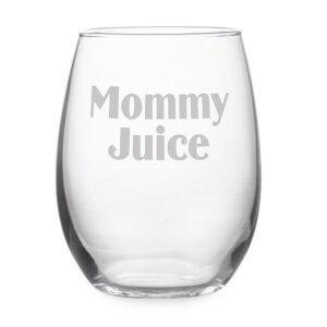 Mommy Juice Stemless Wine