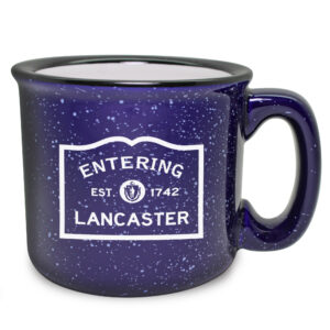 Personalized Entering Street Sign Cobalt Camp Mug