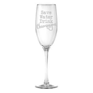 Save Water Drink Champagne Set of 2