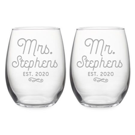 Personalized Wedding Set Mr & Mrs