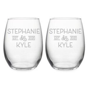 Personalized Wedding Set Bride & Grooms Names