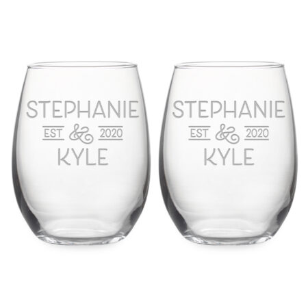 Personalized Wedding Set Bride & Grooms Names