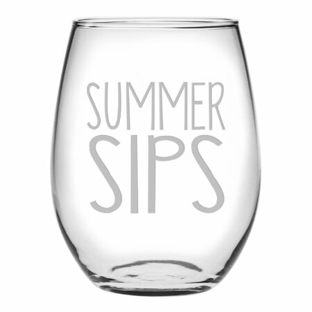 Summer Sips Stemless wine