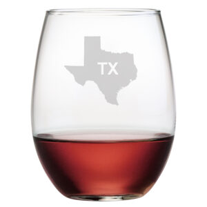 Personalized State Outline - Stemless Wine