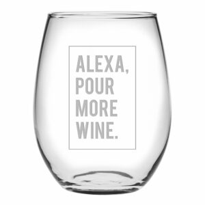 Alexa, pour more wine stemless wine