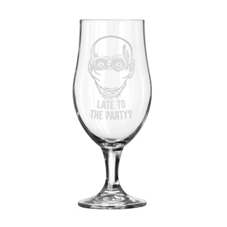 Covid Skull Zombie - Late to Party Tulip Glass