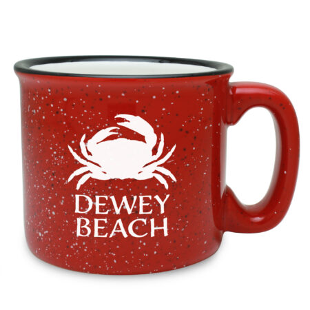 Personalized Crab Red Camp Mug