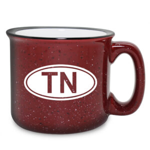 Personalized Euro Oval - Maroon Camp Mug