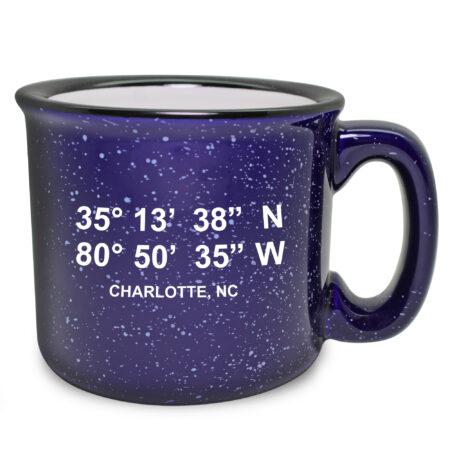 Personalized Lat/Long - Cobalt Camp Mug