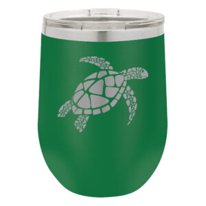 Sea Turtle - Green Insulated Stemless w/Lid