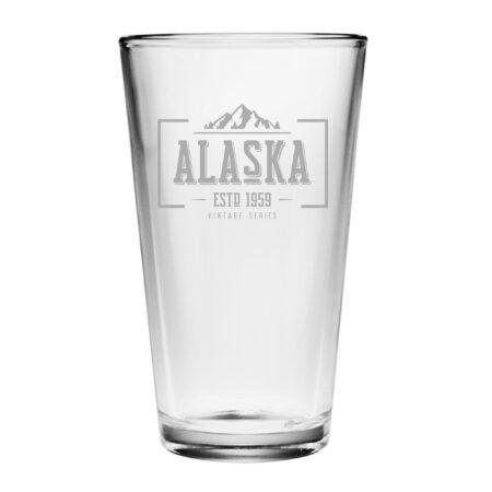 Vintage State Series Alaska Pint