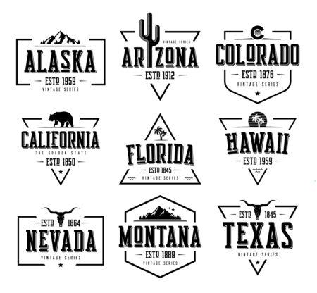 Vintage State Series Designs