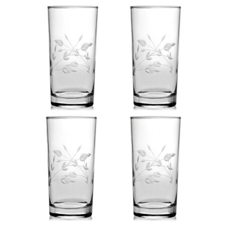 Nicole Hand Cut - Set of Four High Ball Glass