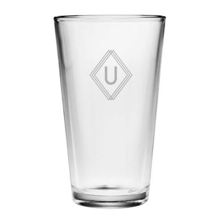 Monogram Deco Initial Pint