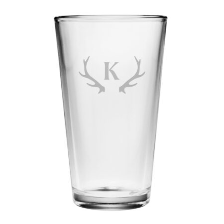 Initial with Antlers Pint