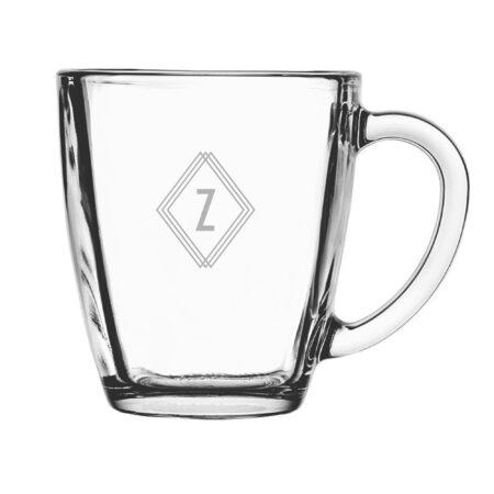 Monogram Deco Initial Glass Mug