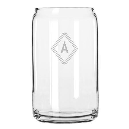 Monogram Deco Initial Beer Can