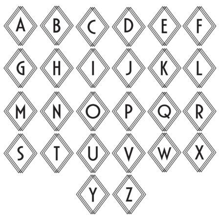 Deco Diamond Monogram Alphabet
