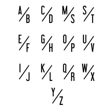 Slant-Monogram Alphabet