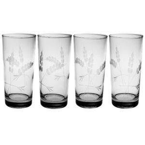 Laramie Hand Cut - Set of Four High Ball