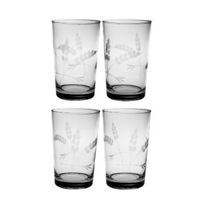 Laramie Hand Cut Design on Juice Glass Set of Four