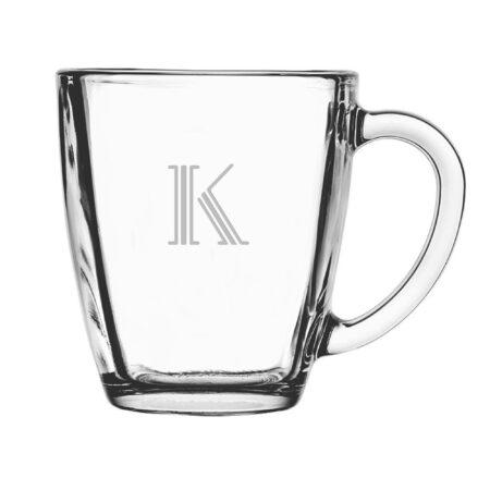 Hudson Initial Glass Mug