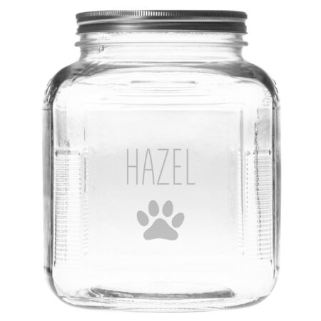 Personalize Paw Print on Treats Jar