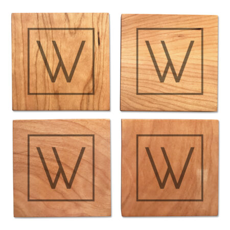 Personalized Initial on Wooden Coasters