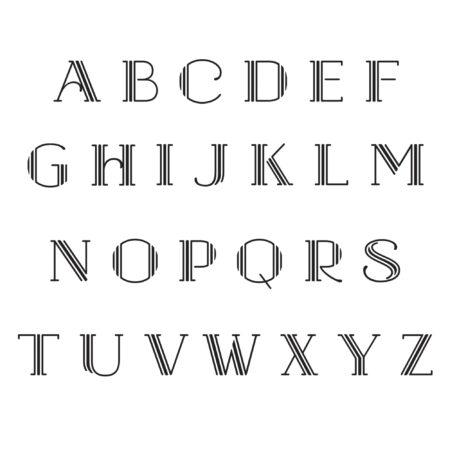 Hudson Alphabet Initials