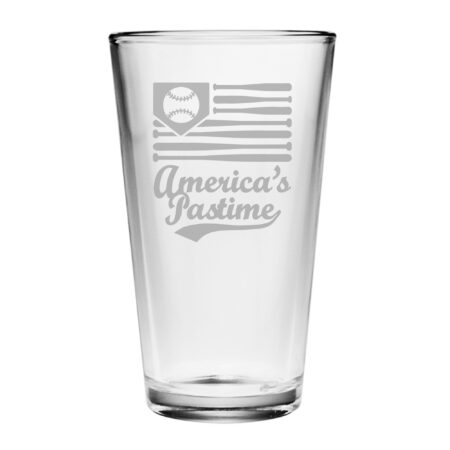 Americas Pastime on a Pint glass