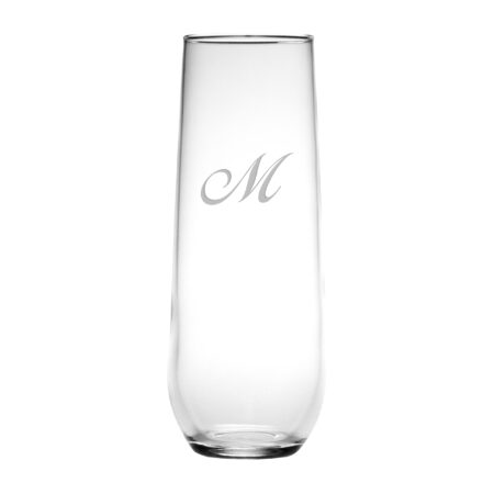 Single Initial Script font on Stemless Flute
