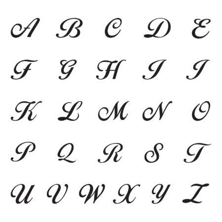 Script font alphabet