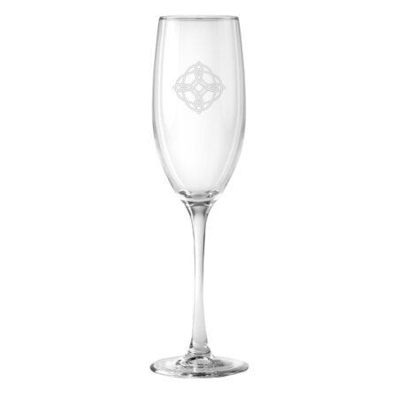 Celtic Design on a champagne flute