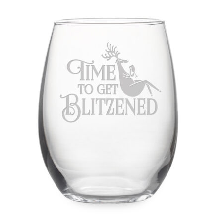 Time tp get blitzened on a stemless wine glass