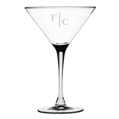 Quinn two letter initials on martini glass