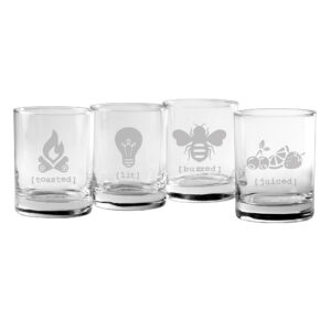 Tipsy Assortment DOR Glasses