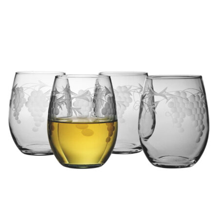 sonoma wine glass design set of four