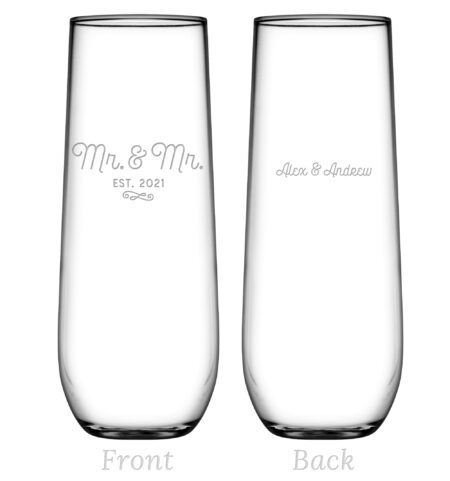 mr and mr stemless flute